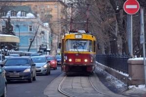 Проезд по трамвайным путям